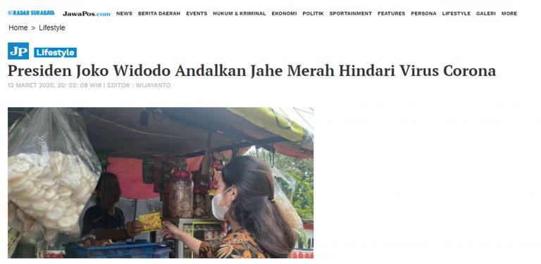 Berita iklan jahe merah di Jawa pos